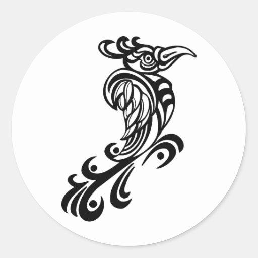 Regal Bird Design Sticker