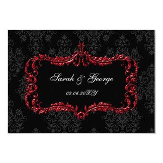 regal black red rsvp cards Standard 3.5 x 5