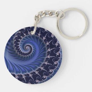 """""""Regal Blue Spiral"""" Keychains"""