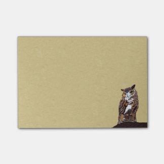 Regal Brown Owl Tree Stump Post-it Notes
