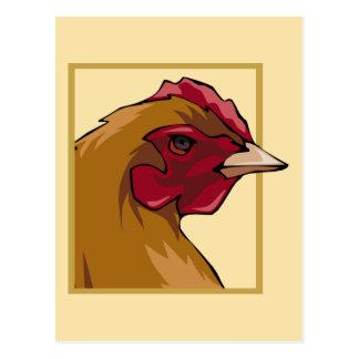 Regal Chicken Postcard