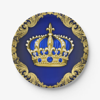 Regal Crown Royal Baby Shower 7 Inch Paper Plate