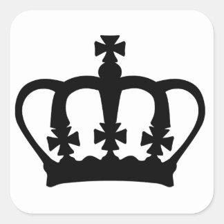 Regal Crown Square Sticker