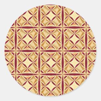 Regal Decor Round Sticker