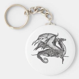 Regal Dragon Basic Round Button Keychain