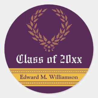 Regal Elegance Graduation Invitation Seal (purple)