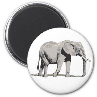 Regal Elephant 2 Inch Round Magnet