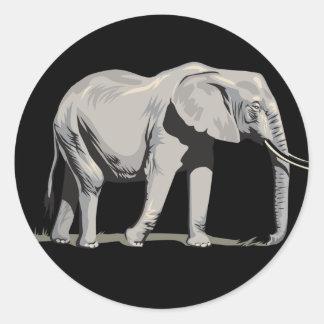 Regal Elephant Round Sticker