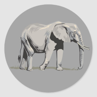 Regal Elephant Sticker
