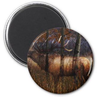 Regal Elk 2 Inch Round Magnet
