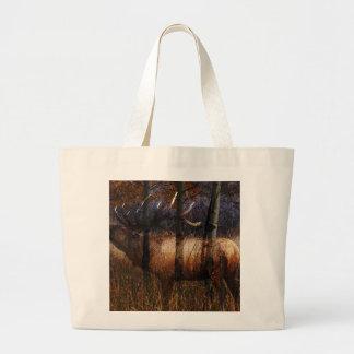 Regal Elk Large Tote Bag