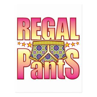 Regal Flowery Pants Postcard