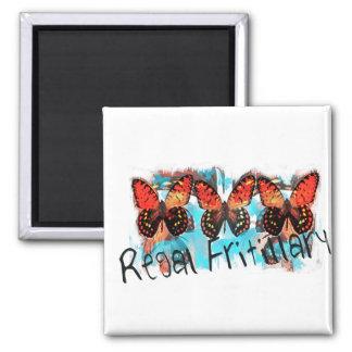 regal fritillary square magnet