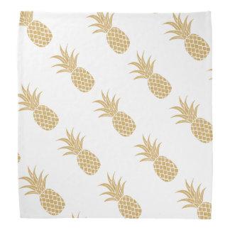 Regal Gold Pineapple Bandana