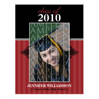 Regal Graduation Announcement Postcard (cranberry)