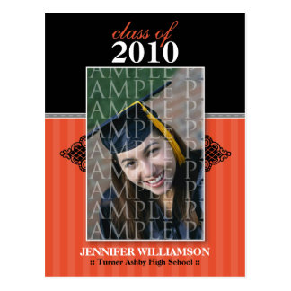 Regal Graduation Announcement Postcard (orange)