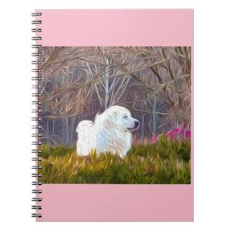 'Regal' Great Pyrenees Fine Art Spiral Notebook