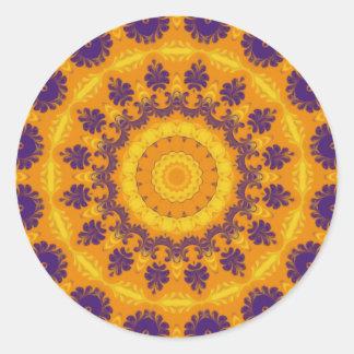 Regal Kaleidoscope Round Sticker