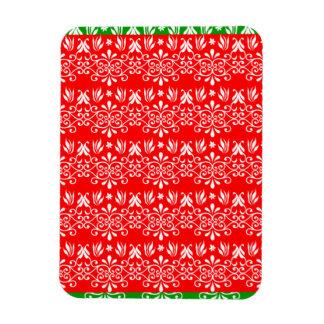 Regal Layered Green & Red Rectangular Photo Magnet