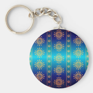 Regal Lazuli Abstract Art Key Chains