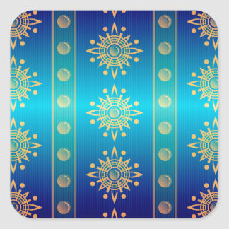 Regal Lazuli Abstract Art Square Sticker