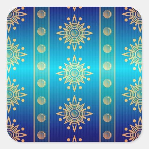 Regal Lazuli Abstract Art Stickers