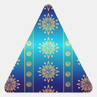 Regal Lazuli Abstract Art Triangle Sticker