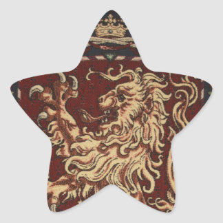 Regal Lion Tapestry Star Sticker