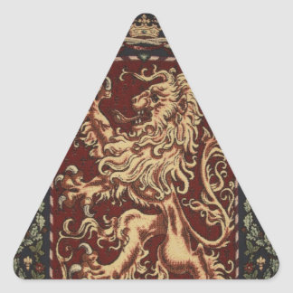 Regal Lion Tapestry Triangle Sticker