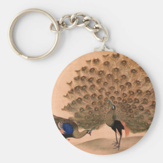 Regal Peacocks Keychain