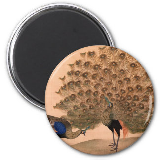 Regal Peacocks 2 Inch Round Magnet