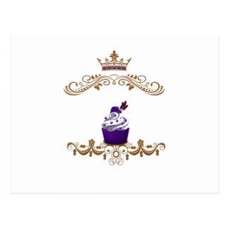 Regal Purple Cupcake Postcard