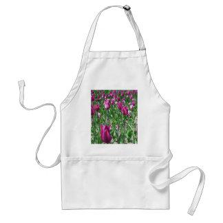 Regal Purple Tulips Standard Apron