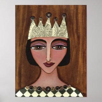 Regal Queen Anna Maria - print