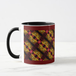 Regal Red And Gold  Abstract Photographic Pattren Mug