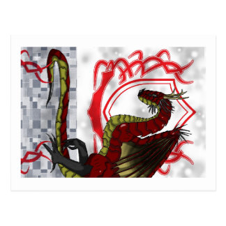 Regal Red Dragon Post Card
