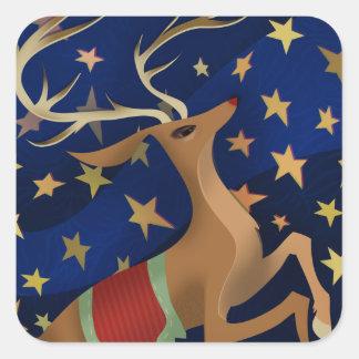 Regal Reindeer Square Sticker