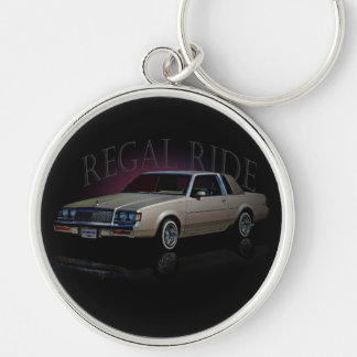 REGAL RIDE Silver-Colored ROUND KEYCHAIN