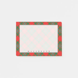 Regal Scottish Clan MacGregor Gregor Tartan Post-it Notes