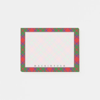 Regal Scottish Clan MacKintosh Tartan Post-it Notes