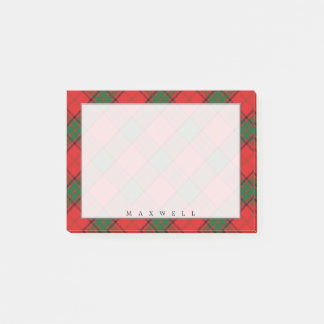 Regal Scottish Clan Maxwell Tartan Post-it Notes