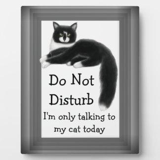 Regal Tuxedo Cat Customizable Sign Plaque