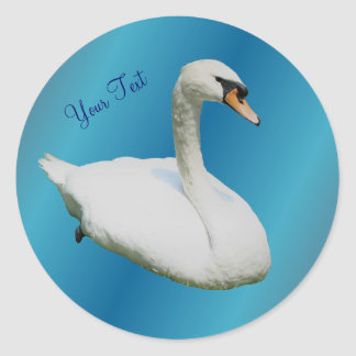 Regal White Swan Animal Sticker