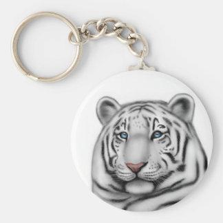 Regal White Tiger Keychain