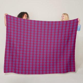 Regal Wine & Stars Embroidery Satin Pattern Fleece Blanket