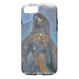 Regal Young Bald Eagle and Moon Painting iPhone 7 Case