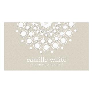 Regard beige de texture de cercle assez blanc de c carte de visite