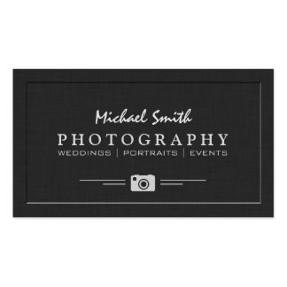 Regard de relief élégant de photographie de carte de visite standard