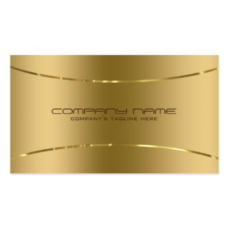 Regard métallique moderne d'acier inoxydable d'or carte de visite standard