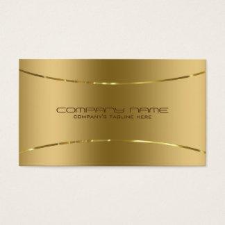 Regard métallique moderne d'acier inoxydable d'or cartes de visite
